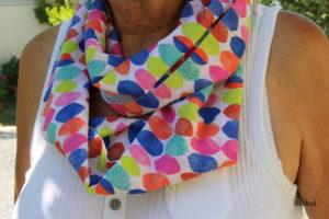 les écharpes en plein été c'est bien, les snoods également ! crêpe de coton et voile de coton