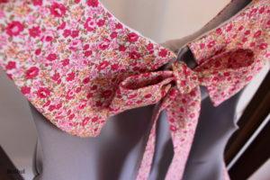 détail du col de la robe sereine version mariage