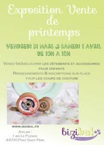 exposition vente bizibul vendredi 31 mars et samedi 1er avril de 10h à 18h à l'atelier bizibul à port saint père 44