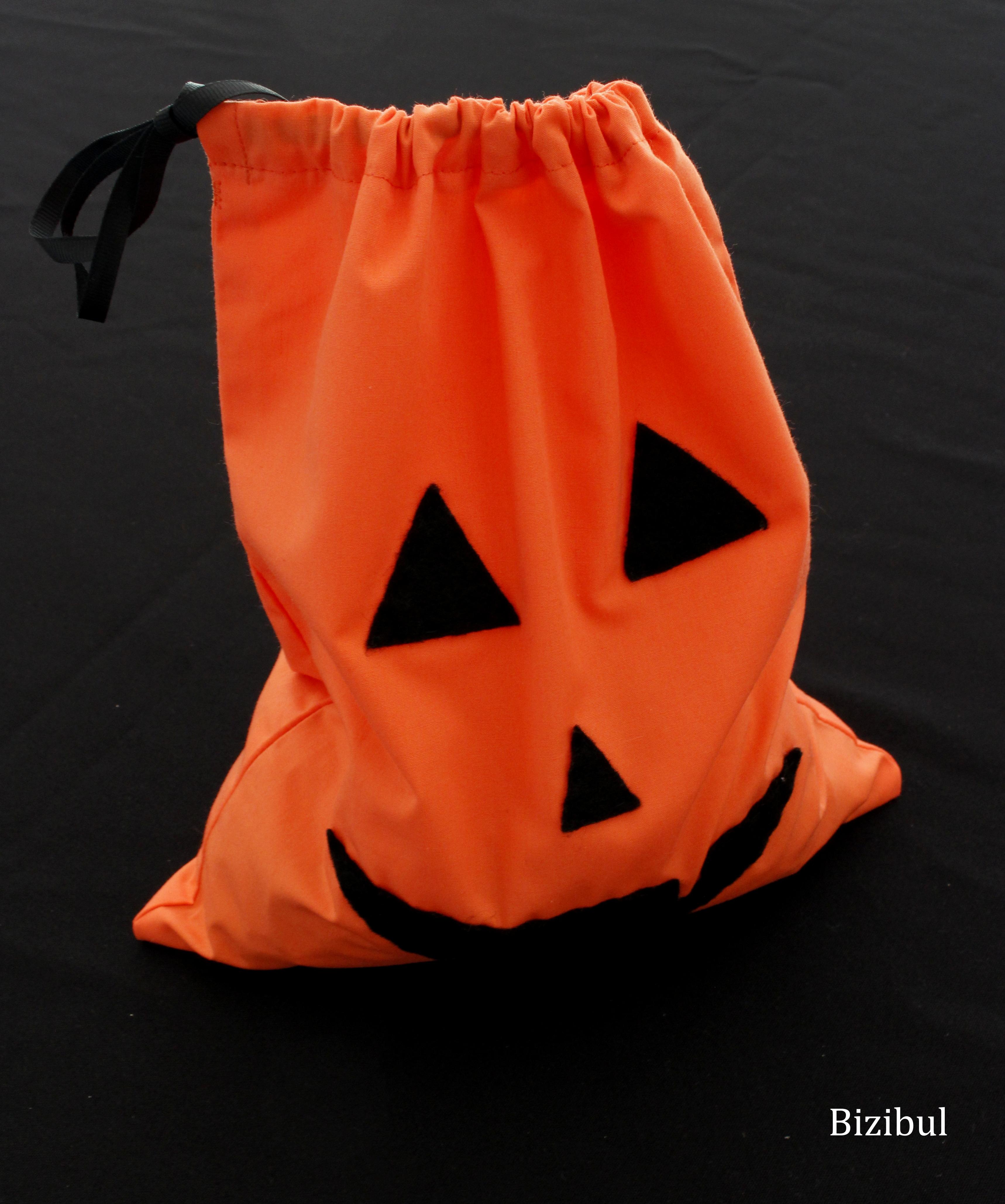tutoriel de couture, le sac à bonbons d'Halloween