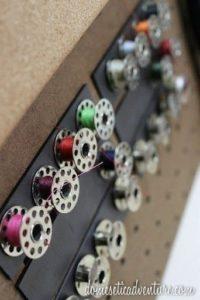 ranger son atelier couture et ses canettes métalliques avec leur effet aimant