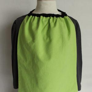serviette de table à élastique hiboux verso vert