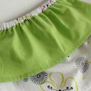jupe à pans verte taille 2 ans détail ceinture