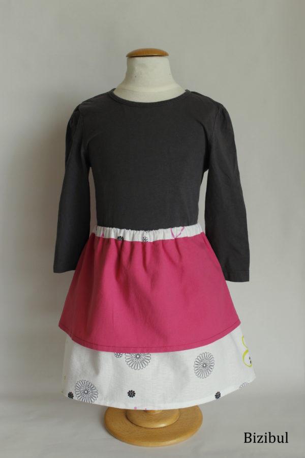 jupe à pans rose taille 4 ans