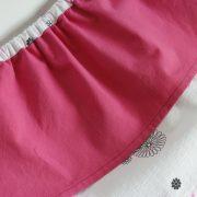 jupe à pans rose et blanche détail ceinture