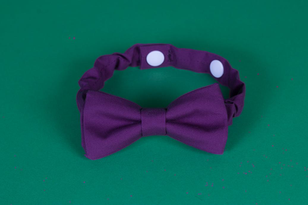 noeud papillon évolutif enfant violet